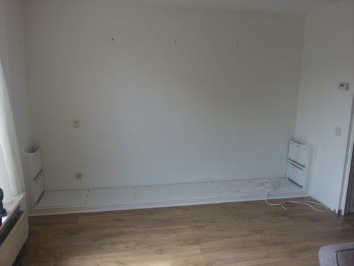 Wandkast met tv meubel, laden en deuren