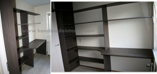 Bureau en boeken wandkast