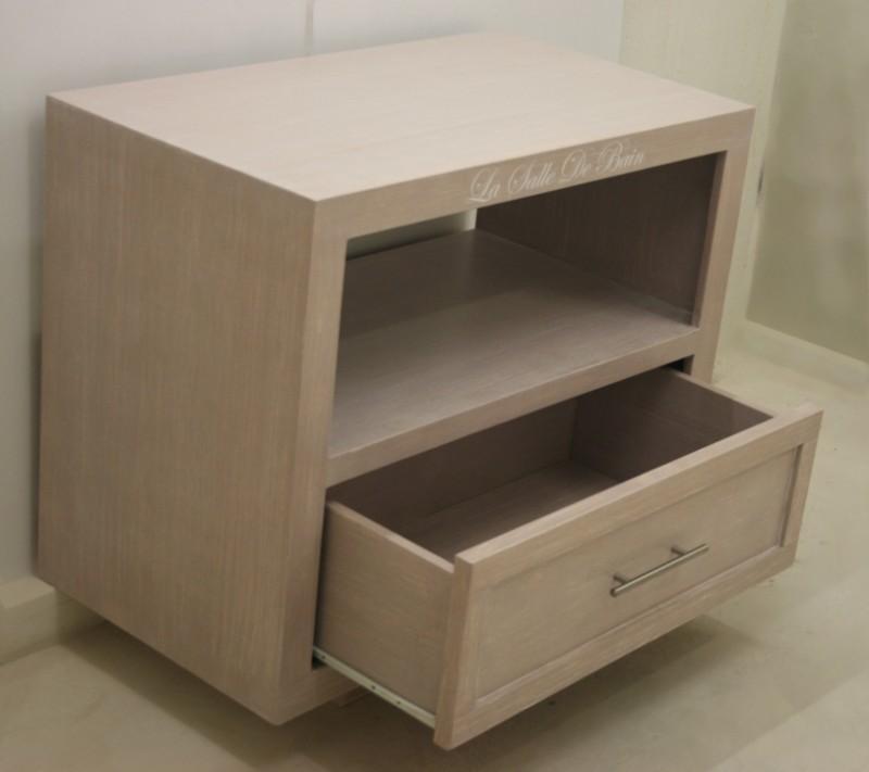 badkamer wastafel onderkast, brownwash