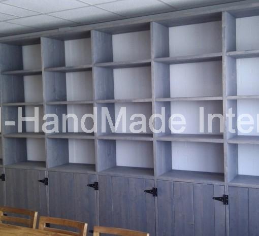 Steigerhout vakkenkast kast kasten boekenkast for Boekenkast steigerhout