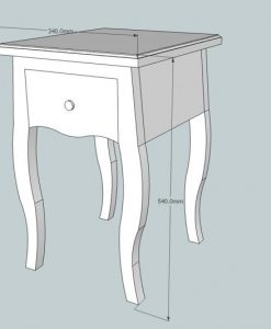 Barok side-table op sierlijke gebogen poten en een lade