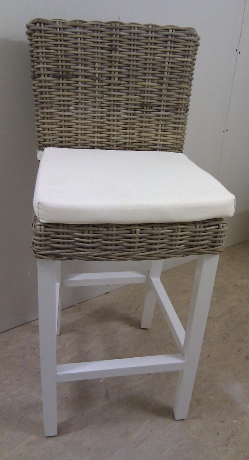 barstoel met handvat, wit