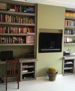 Steigerhouten boekenkast