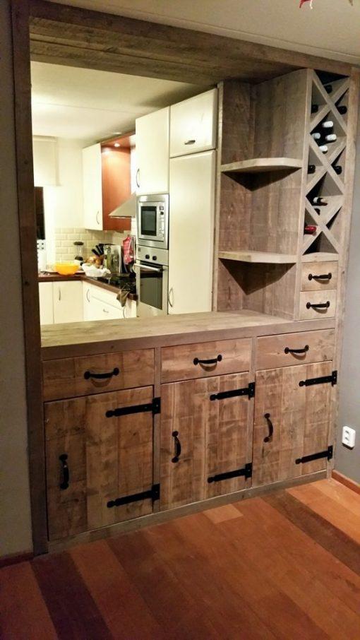 keukenmeubel van steigerhout op maat