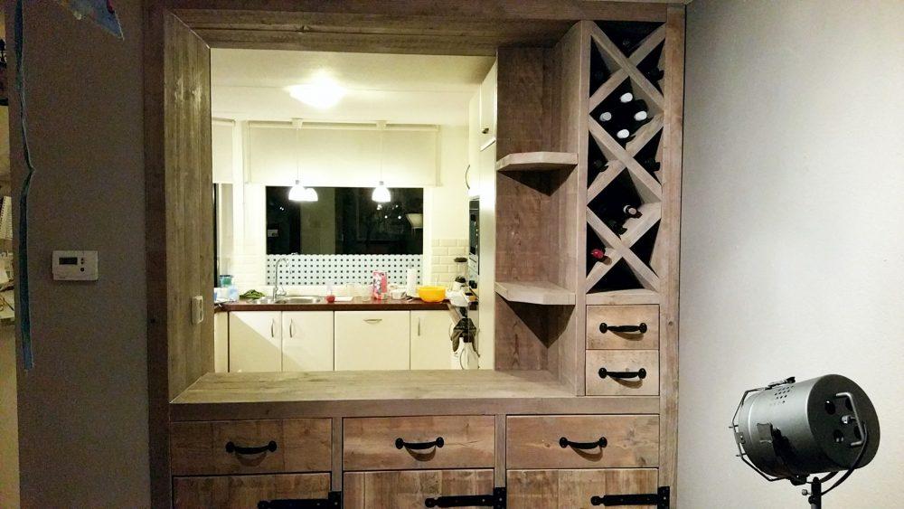 Steigerhout Bar Keuken : Keuken bar van steigerhout handmade interior