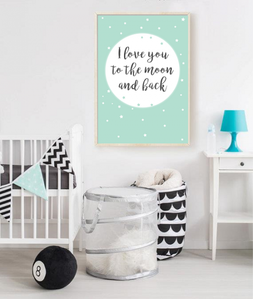 I love you to the moon poster