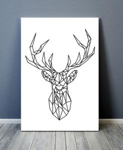 Geometrisch hert poster