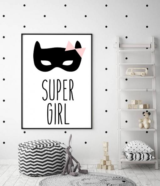 Poster super girl masker