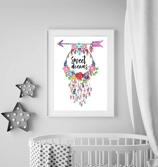Dromenvanger wild & free poster