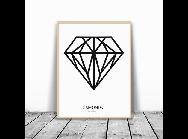 Geometrische diamant poster