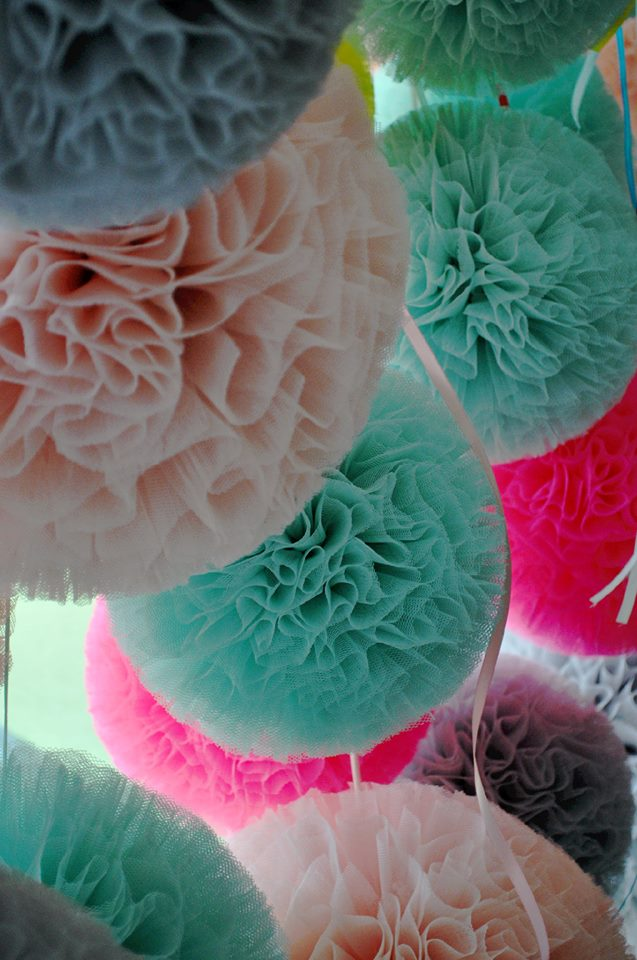 mint lichtroze pompon
